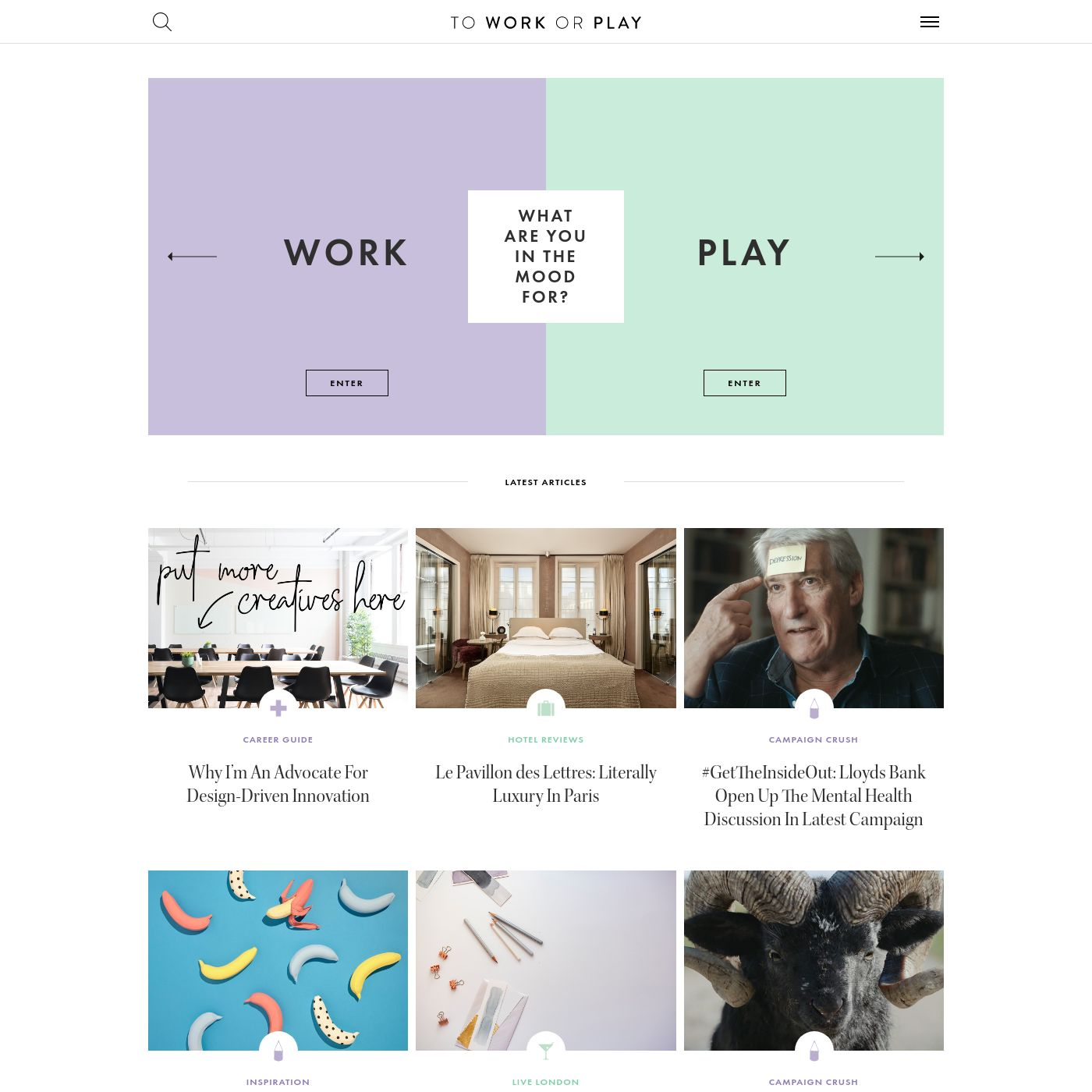 To Work Or Play | A blog of two halves: Lifestyle guidance for city-savvy socialites, and insight, inspiration and opinion for ad-curious folk.